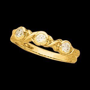 12622 THREE STONE ANNIVERSARY BAND 14K Yellow BAND Polished