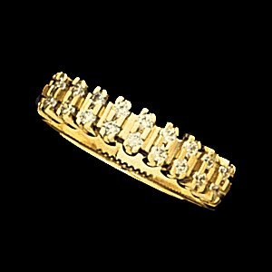 SH101 ANNIVERSARY BAND   14K Yellow  .11-.28 CT TW  Polished