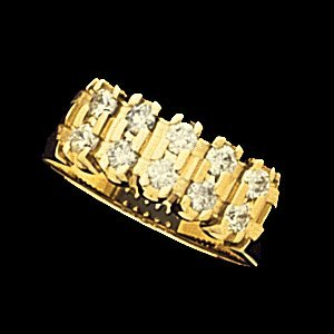 SH103 ANNIVERSARY BAND 14K Yellow  .42-.70 CT TW  Polished