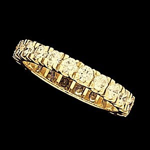 SH45  ETERNITY BAND  14K Yellow  SIZE 7-23 STONE  Semi-Polished