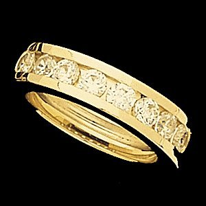 SH52  ANNIVERSARY BAND 14K Yellow  SIZE 7  Polished