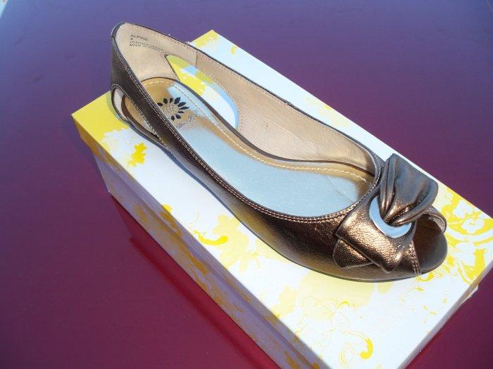 Bronze Flat w/ Peekaboo Toe - Size 8.5