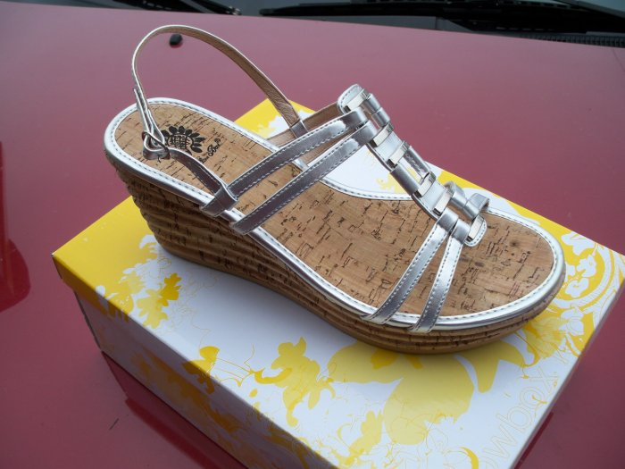 Silver, Cherrie Shoes from Yellow Box, Size 8