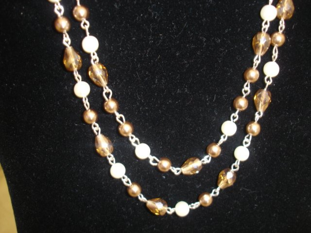 Sterling silver double-strand necklace