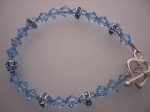 Silver/Blue Crystals