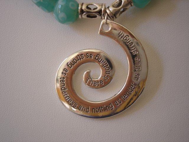 Jade/Silver colored Necklace