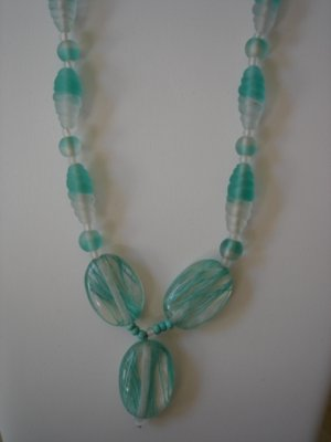 Clear/Mint Green  Necklace