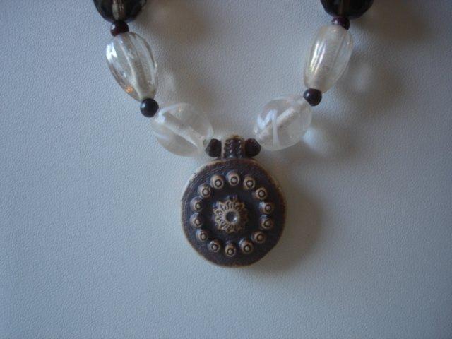Poppy Jasper/Goldstone Gemstone Necklace