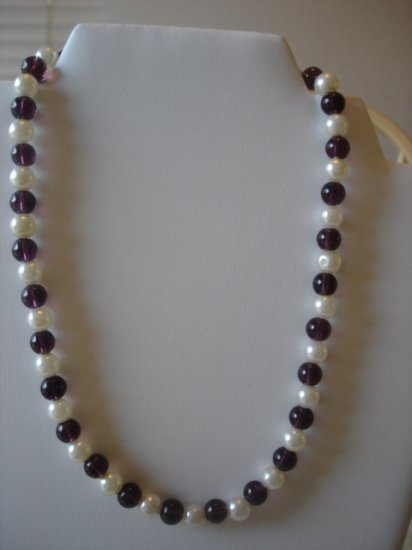 Amethyst/Pearl Necklace