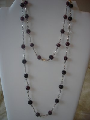 Amethyst/silver Necklace