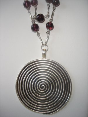 Amethyst/silver Double stranded Necklace