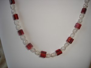 Candycane Inspired Necklace