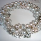 Hope/Love/Joy Pearl Bracelet