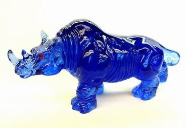 Large Blue Rhinoceros for Protection