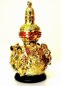 Golden Wu Lou with 8 Immortals