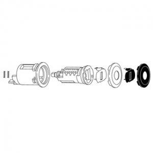 Ford 8-cut key door lock