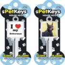 Klinky Doberman pet dog  house key blank 822-sc1
