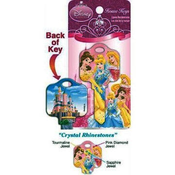 Disney Princess 3 Crystal Rhinestone Kwikset KW1  House Key D49-KW1