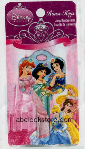 Disney Princess 2 Crystal Rhinestone Kwikset House Key D48-KW1
