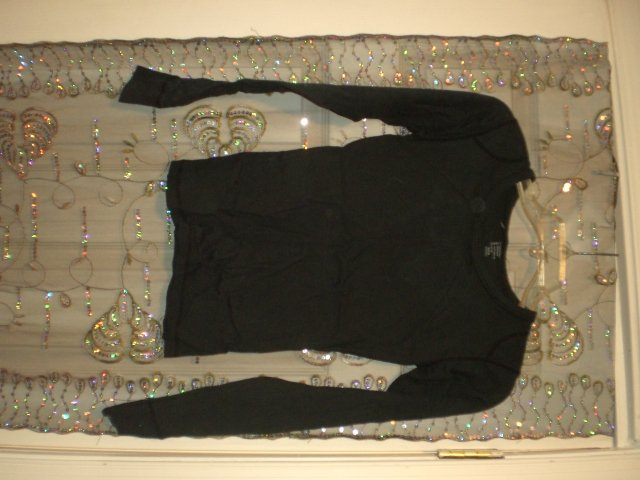 Black small Cotton long sleeve shirt