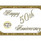 12 - 50th Golden Anniversary Favors Scratch Off Game Tickets PERSONALIZED