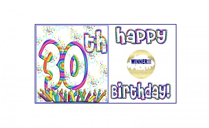 12 - 30th Birthday Favors Scratch Off Game Tickets PERSONALIZATION