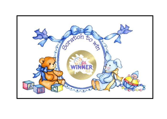 12 Baby Boy Shower Party Favors Scratch Off Game Tickets PERSONALIZED