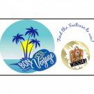 12 BON VOYAGE Party Favors Scratch Off Game Tickets PERSONALIZED