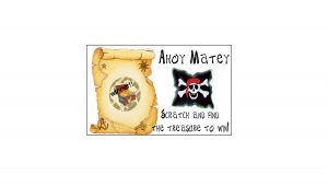 12 Birthday PIRATE Favors Scratch Off Game Tickets Favors PERSONALIZED