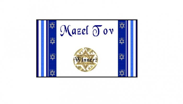 12 Bar Mitzvah Bat Mitzvah Party Favors Scratch Off Game Tickets PERSONALIZED