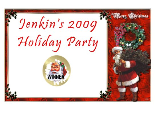 12 Christmas Party Holiday  Favors Scratch Off Game Tickets PERSONALIZED