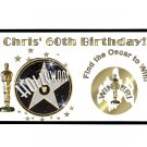 12 Hollywood Movie Scratch Off Game Tickets Birthday Favors PERSONALIZED