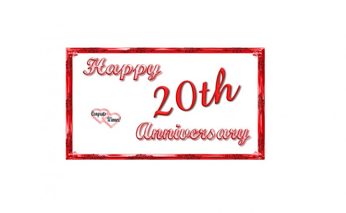 12 - 20th Anniversary Favors Scratch Off Game Tickets Red