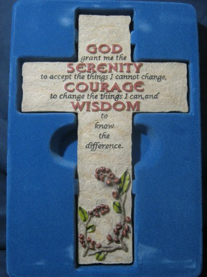 Cross Bless-Us Collection Serenity Courage Wisdom  #007453