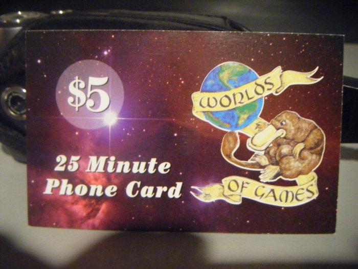 25 Minute Phone Card