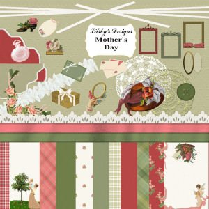 """Mother's Day"" Full Digital Scrapbook Kit"