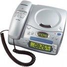 CONAIRPHONE Corded Telephone with CD Player and Clock Radio - Conair CID502 (CID-502)