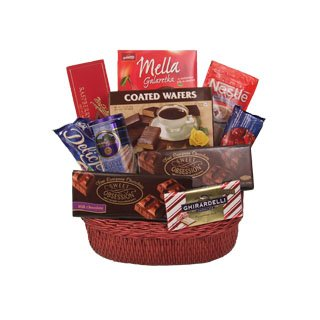 European Chocolate Luxuries Gift Basket