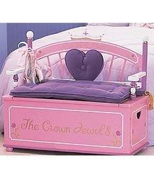 Princess Toy Box Bench