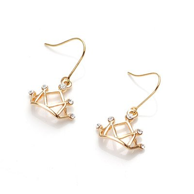 exsj1002 Golden Crown Earring