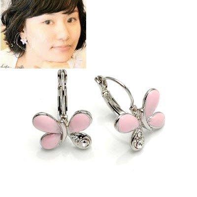 exsj1016 Pink Butterfly Earring