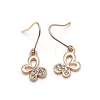 exsj1023 Golden Butterfly Earring