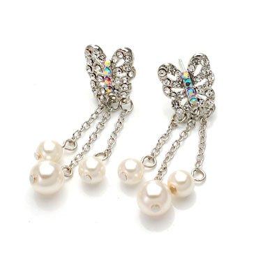 exsj1051 Butterfly Pearls Earring
