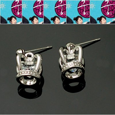 exsj1064 Small Crown Earring