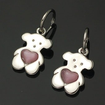 exsj1069 TOUS Bear with Heart Earring