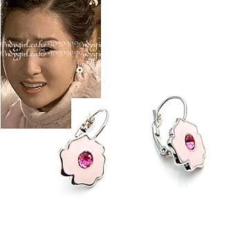 exsj1072 Pinky Flower Earring