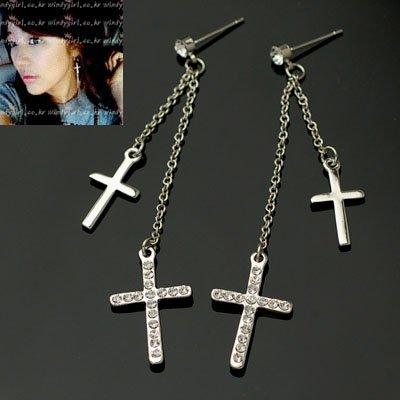 exsj1076 Double Cross Earring