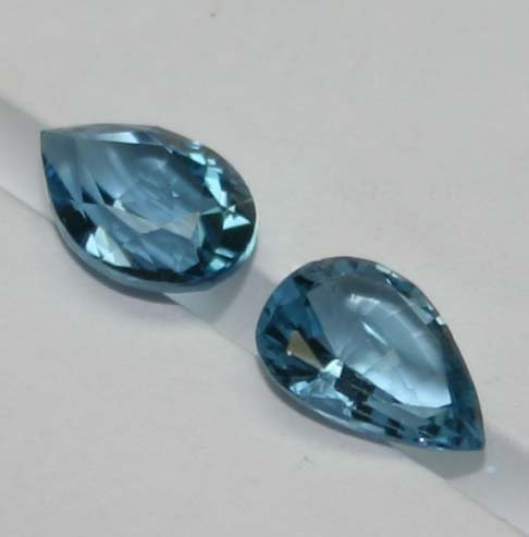 Pear Shape Blue Topaz Gemstones (2)