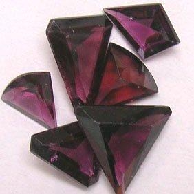 Parcel of Fancy Cut Rhodalite Gemstones - JEWELRY DREAMS item GSR1