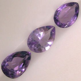 Pear Shaped Amethysts - Jewelry Dreams item GSA3